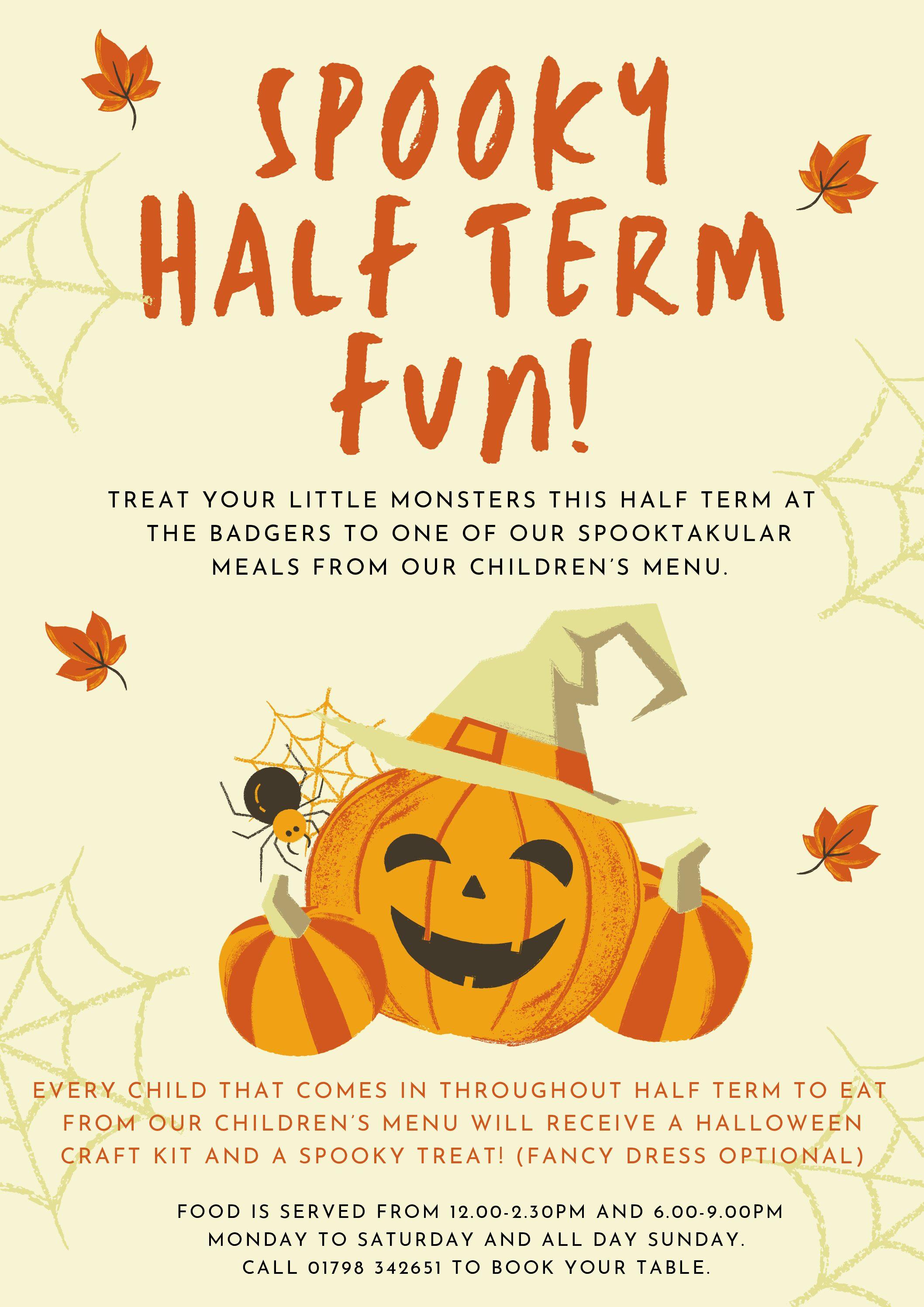 Half Term Halloween Fun!
